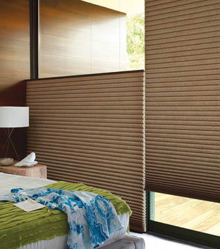Cellular Pleated Blinds top down