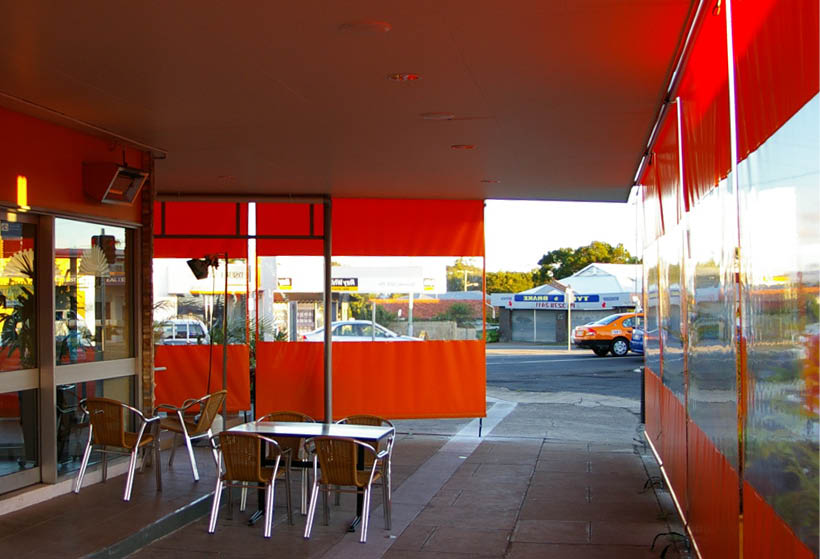 cafe blinds - awnings